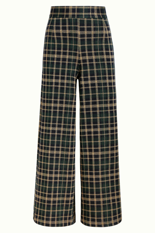 Palazzo Pant Zeppelin Check Sapphire Blue 06684