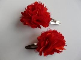 """Haarknipjes """"pompon rood"""" 5 cm"""