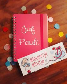 """notitieboekje """"juf"""""""