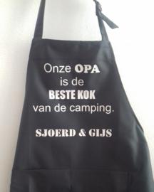 """Schort voor een opa """"beste kok van de camping"""""""