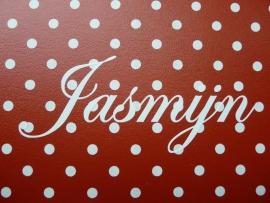 """Koffertje met naam """"Jasmijn"""""""