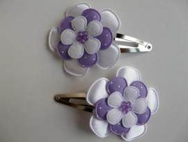 """Haarknipjes """"bloem paars"""" 5 cm"""