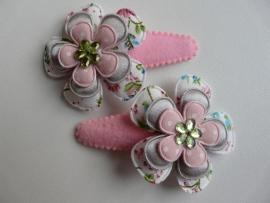 """Haarknipjes """"bloem pastel"""" 5 cm"""