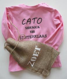 """Shirt """"sidekick van Sinterklaas"""""""