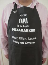 """Schort """"mijn opa is de beste pizzabakker"""""""