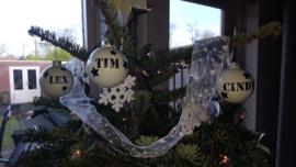 kerstballen Tim, Cindy en Lex