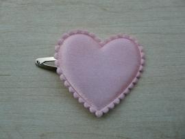 """haarknipje """"hart roze"""""""