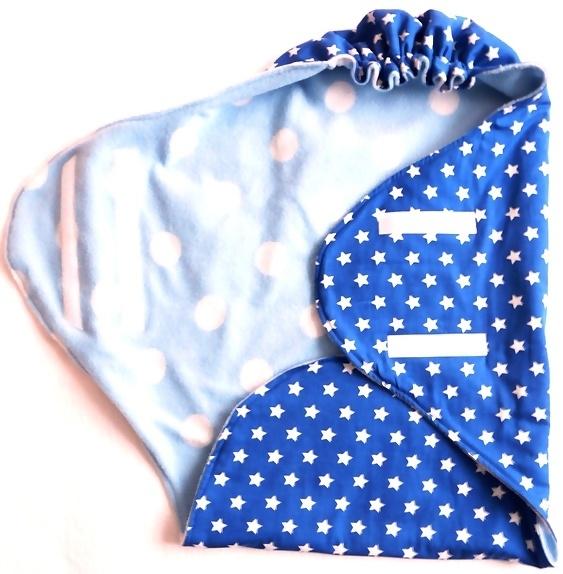 """Wrapper/ Wikkeldeken """"blauwe ster"""""""