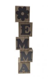 Houten letterblokjes