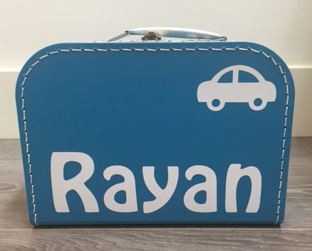 Kinderkoffertje autootje