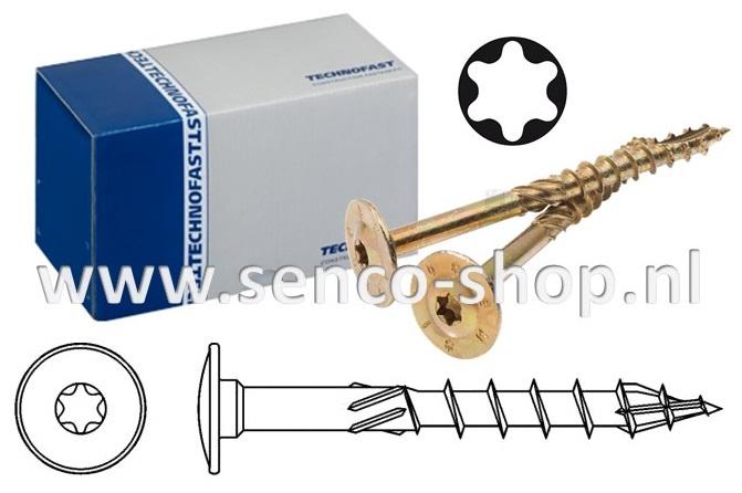 Houtconstructie schroef HBS 6,0 x 200 schotelkop doos a 100 stuks