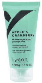 Lycon - Apple & Cranberry Sugar Scrub Tube 100ml