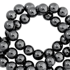 Hematiet kralen, natuursteen  6mm / 50 stuks / KD44447