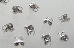 Kalotjes met oogje Nikkelkleur / 50 stuks / KD18329