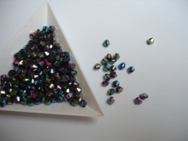4mm Multicolor Facet kunststof  - 5 gram - KD705