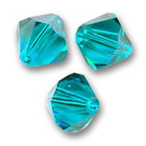 3mm  Toupies en cristal Swarovski   Blue Zirkon Nr 6 / 100 pcs