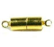 Magneet slotje 16x4,8mm Goud / per stuk / KD140
