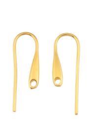 Oorbelhaakjes goudkleur 25X8mm  / per paar / KD25418