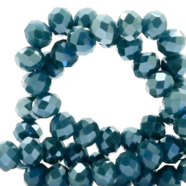 Grijs Blauw diamond coating 4x3mm / Streng 150 stuks / KD51546