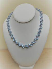 Pakketje  Spiraalketting met miracle Beads  - Nr 1124 - Grijs / Wit