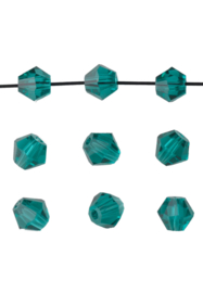 Bicones Blue Zirkon Kristal 4mm / 100 stuks /KD20018