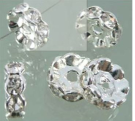 Rondel met strass 10mm / 10 stuks / KD6296
