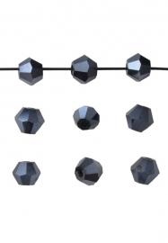 Bicones Hematiet Kristal Facet 4mm / 100 stuks / KD20026