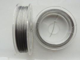 Fil acier -  coating couleur Nickel 0,45mm / 10 mètres / KD25767