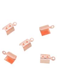 Veterklem Rosé goud 9,5x4mm / 10 stuks / KD24300