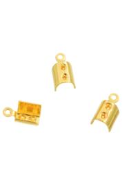 Pinces en métal pour lacets et cuir 11x6mm / doré / 20 pièces / KD24461