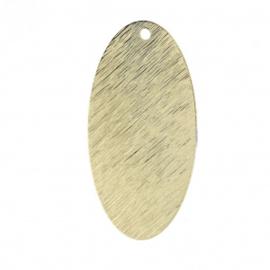 Ovale couleur Or  29x16 mm / 2 pièces / KD250