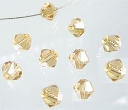 Bicones Silk Kristal  Facet 4mm / 100 stuks / KD20017