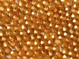 Crystal Sandalwood Fire Polished  4mm / 100 stuks / KD52000