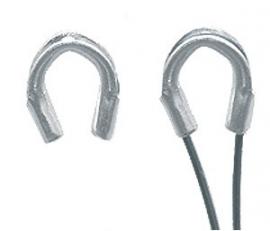 Wire guardian Nikkelkleur  5x4mm /  Ca 110  stuks / KD25439