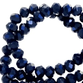 Dark blue-pearl shine coating 4x3mm  / ± 150 pièces / KD62450