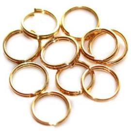 9mm Dubbel ringetjes Goudkleur / KD3147 / 10 gram