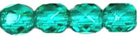 Green Dk teal Fire Polished   4mm / 100 stuks / KD735
