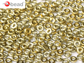 O bead  2 x 4 mm Crystal Gold Amber 2x4mm / 5 grammes / KD61031