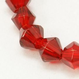 Facette Rouge Cristal 6mm / 30 pièces / KD4801
