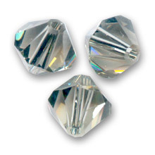 Nr 2 - 3mm  Swarovski Bicone  5328  Black Diamond  / Per 100 stuks