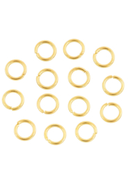 6mm enkel ringetje, goudkleur/  0,8mm  / 5 gram /  KD24159