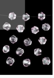 Bicones Licht Roos  4 mm / 100 stuks / KD20028