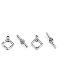 Fermoir Toggle Argent Antique / Set 3 ensembles  / KD26931