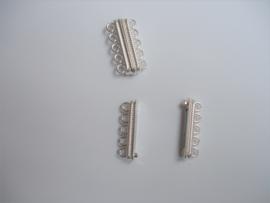 Magneetslot Zilverkleur , 5 ringen / per stuk / KD24721