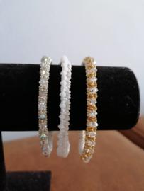 Armbanden met swarovski gemaakt door Linda V.I.