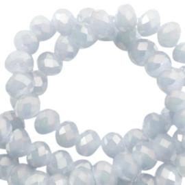 Grijs diamond coating 4x3mm / Streng 150 stuks / KD38810