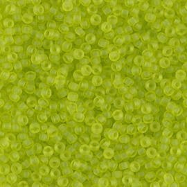 Miyuki Rocaille  11/0  - Nr  143FR  - 10 gram - Matte Transparent Chartreuse