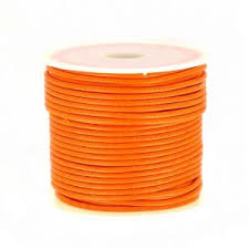 Polyester Koord oranje 2 mm / Ca9 meter / KD447
