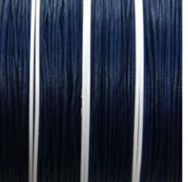 Waxkoord met glans Donkerblauw 1mm  / Ca 5 meter / KD3004