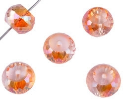 Facettes Orange transparent Cristal 12x9mm / 10 pcs / KD16253